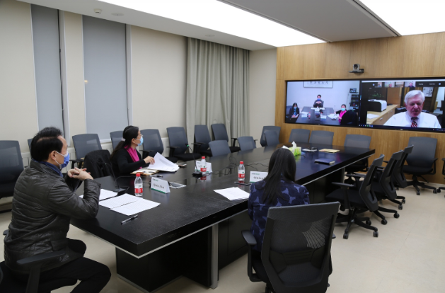 PKUHSC and the Medical School of University of Michigan Convene a Video Conference on COVID-19